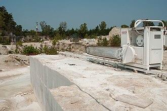 Phenix, Missouri - Limestone saw inside quarry