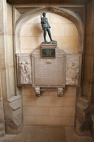 Grimsby Chums - Memorial in St James Church, Grimsby
