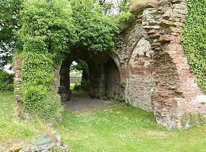 Lindores Abbey - The eastern entrance.