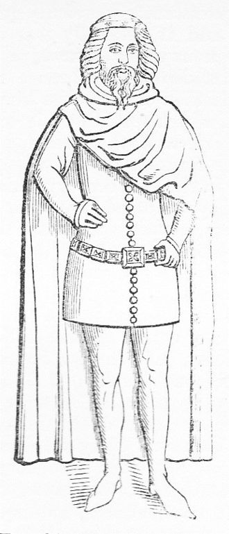 Lionel of Antwerp, 1st Duke of Clarence - Lionel, Duke of Clarence. 19th-century drawing of bronze statuette on south side of tomb of his father King Edward III in Westminster Abbey