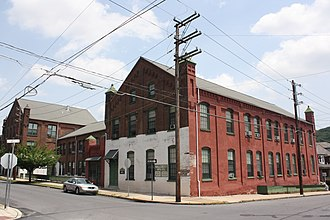 Fountain Hill, Pennsylvania - Historic Lipps & Sutton Silk Mill, corner of Seneca and Clewell Sts.