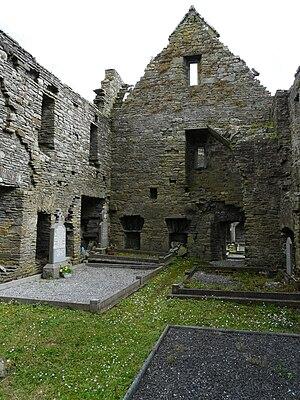Lislaughtin Abbey - Interior of the ruins