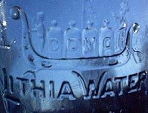 Lithia water - Lithia Spring Water bottle, 1888