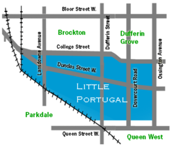 Location of Little Portugal