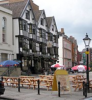 The Llandoger Trow, an ancient public house in the heart of Bristol