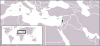 A map showing the location of Lebanon