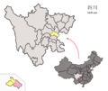 Location of Anyue within Sichuan (China).png
