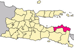 Situbondo Regency in East Java province