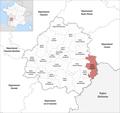 Locator map of Kanton Terrasson-Lavilledieu 2019.png
