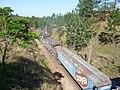 Locomotivas no meio do comboio que passava sentido Guaianã na Variante Boa Vista-Guaianã km 160 em Mairinque - panoramio.jpg