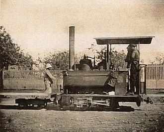 Decauville railway at Diégo Suarez - Image: Locomotive of type 'La Mignone' of the Diego Suarez le Camp d'Ambre railway