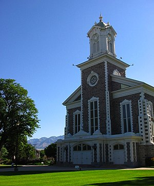 U.S. Route 89 in Utah - Route 89 passes by the Logan Tabernacle in downtown Logan, Cache County