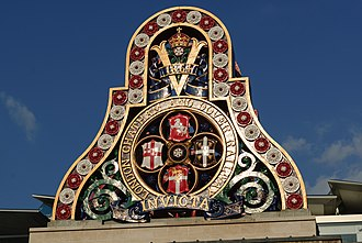 London, Chatham and Dover Railway - Badge of the LCDR from the first Blackfriars Railway Bridge