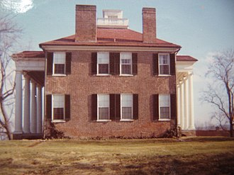 Long Branch Plantation - West side of Long Branch plantation before wing was added