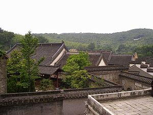 Zhenjiang - The roof of Longchang Temple