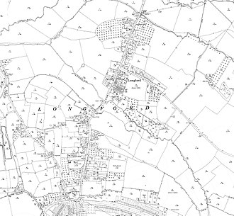 Longford, Gloucestershire - Longford on a 1930s Ordnance Survey map