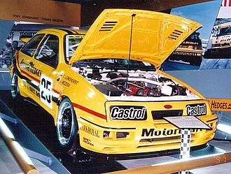 Benson & Hedges - Tony Longhurst's 1988 Bathurst 1000 winning Ford Sierra at the Bathurst museum
