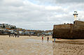 Looking north to Smeatons Pier, St Ives, at low water - geograph.org.uk - 1549462.jpg