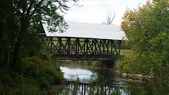 Irasburg, Vermont - Lord's Creek Covered Bridge in Irasburg