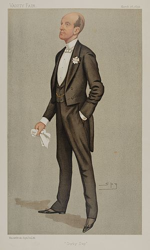 Hugo Charteris, 11th Earl of Wemyss - Lord Elcho as caricatured by Spy (Leslie Ward) in Vanity Fair, March 1892