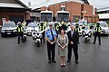 Lord Mayor of Perth Lisa Scaffidi posing for a photo shoot with Commissioner of Police Karl O'Callahan.jpg