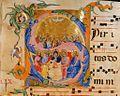 Lorenzo Monaco, Pentecost, c.160v, ca.1390, Bologna, Museo Civico Medievale, MS 539.jpg