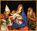 Lorenzo lotto, madonna col bambino tra i ss. ignazio di antiochia e onofrio, 1508, 02.jpg