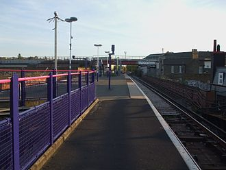Loughborough Junction railway station - The South London line, seen from Loughborough Junction