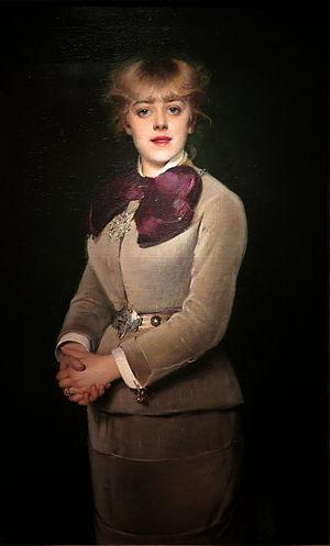 Jeanne Samary - Portrait de Jeanne Samary, by Louise Abbéma (ca. 1880)