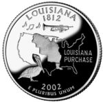 Louisiana quarter, reverse side, 2002