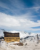 The Continental Divide dips down to 11,990feet (3,655m) at Loveland Pass.