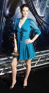 British actress and model