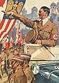 Ludwig HOHLWEIN Schmucktelegramm WK II Hitler Reichsparteitag I-II Drittes Reich NSDAP Propaganda 1937 Deutsche Reichpost Telegram Nazi Party Rally Nuremberg 1937 No known copyright restrictions 0456615123.jpg