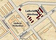 Luftschiff-Kaserne München (Grundriss um 1922)
