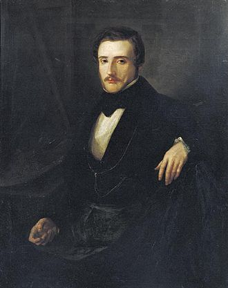 Lluís Rigalt - Portrait of Lluís Rigalt (1840)  by Ramón Vives Ayné (1814-1904)
