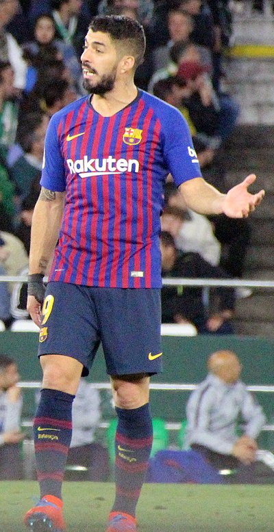 Suarez playing for Barcelona in 2019 Luis Suarez 2019 03 17 2.jpg