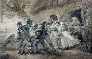War of 1812 - Press gang: oil painting by Luke Clennell