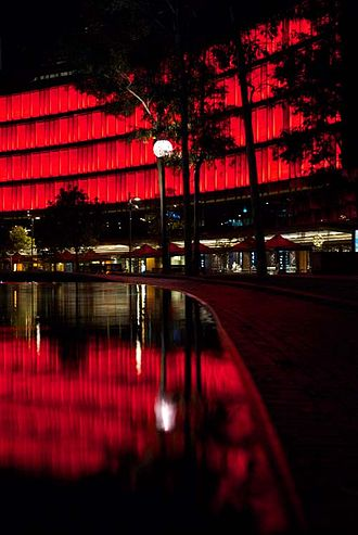 Luminous at Darling Quarter - Interactive technology by iion, in collaboration with Ramus Illumination, activates the canvas and gives Luminous a social/web presence