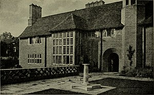 Deanery Garden - South, garden front of the house, 1921