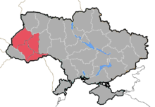 Location of the Archdiocese of Lviv