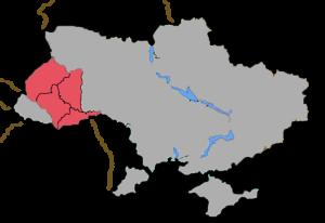 Roman Catholic Archdiocese of Lviv - Image: Lviv diocese location