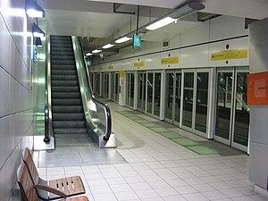 Rennes Metro - Image: Métro Rennes Station Sainte Anne Quais