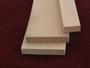 Medium-density fibreboard - A sample of MDF