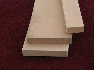 Medium-density fibreboard engineered wood product