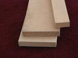 Medium-density fibreboard - A sample of MDF