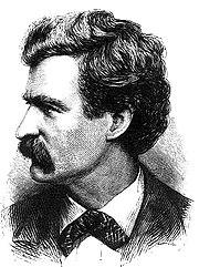 1874 engraving of Twain