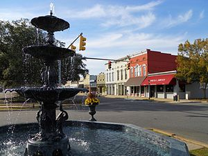 Eufaula, Alabama - The MacMonnies Fountain in downtown Eufaula.