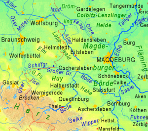 Magdeburg Börde - Topography and location of the Magdeburg Börde