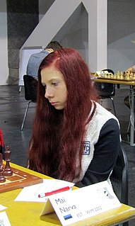 Mai Narva Estonian chess player
