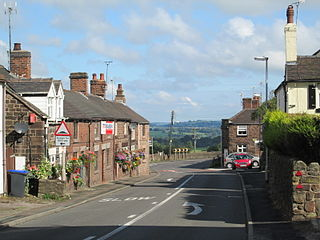 Wetley Rocks village in the United Kingdom